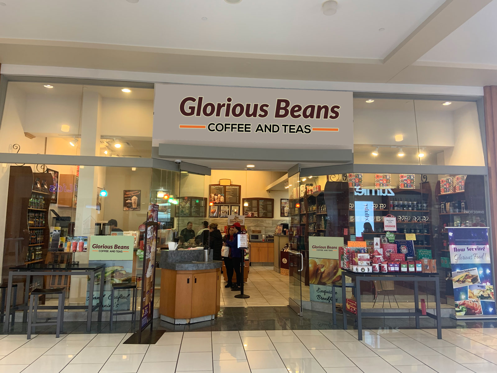 Glorious Beans Coffee & Tea at West Towne Mall.